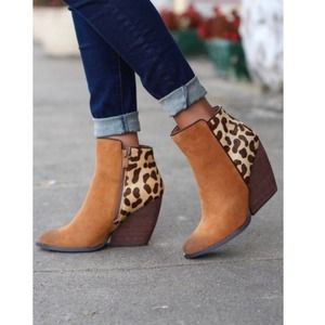 Very Volatile Chatter Mixed Suede Leopard Bootie 8